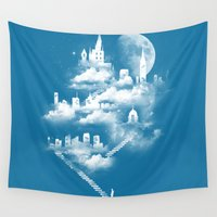 heaven Wall Tapestries featuring STAIRWAY TO HEAVEN by Tobe Fonseca