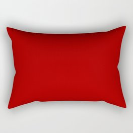 Dark Candy Apple Red - solid color Rectangular Pillow