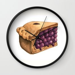 Blueberry Pie Slice Wall Clock