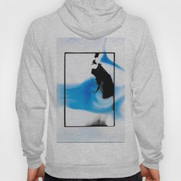 Female dark room print scan Hoody