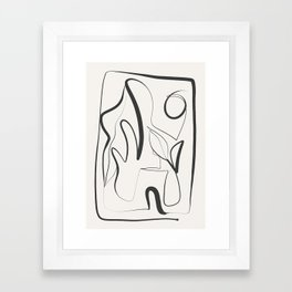 Abstract line art 9 Framed Art Print