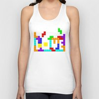 tetris Tank Tops featuring Tetris Love by Wheel of Fortune