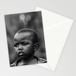 Child in Rwanda Stationery Cards