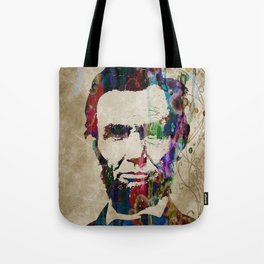 Abraham Lincoln Watercolor Modern Abstract GIANT PRINT ART Tote Bag