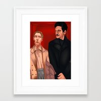 budapest hotel Framed Art Prints featuring Budapest hotel by captain sugar
