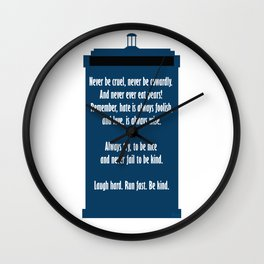 Twelve's Last Words Wall Clock