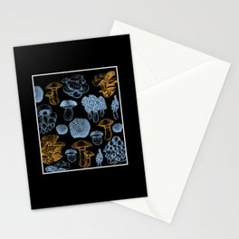 Types Of Mushrooms Mushroom Collecting Fungi Stationery Cards