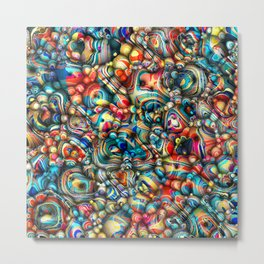 Colorful 3D Abstract Metal Print
