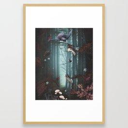 Jellyfish Waltz Framed Art Print