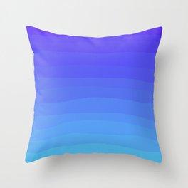 Cobalt Light Blue gradient Throw Pillow