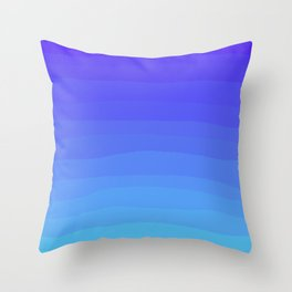 Cobalt Light Blue gradient Throw Pillow