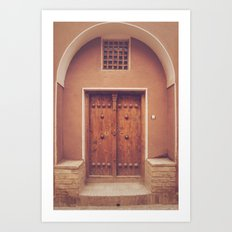 Abyaneh Door #3 (from the series 'Iranian Doors') Art Print