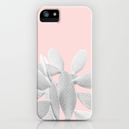 White Blush Cacti Vibes #1 #plant #decor #art #society6 iPhone Case