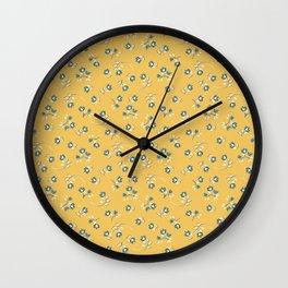 Wind Flower in Yellow Wall Clock