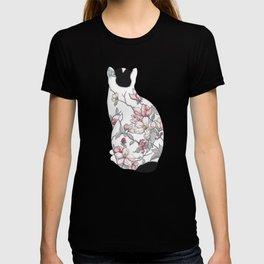 Cat in Apple Blossom Tattoo T-shirt