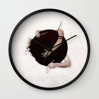 "teen wolf Wall Clocks featuring Teen Wolf-""Dark Hearts"" by radruby"