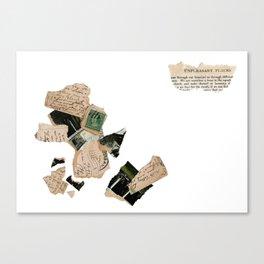 Unpleasant Places / Deconstructed Postcard Canvas Print