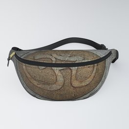 The sound of the Universe. Gold Ohm Sign On Stone Fanny Pack