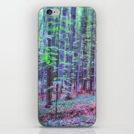 psychedelic forest iPhone Skin