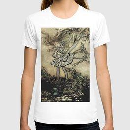 """Wendy Darling"" in Kensinton Gardens by Arthur Rackham T-shirt"
