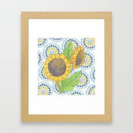 Sunflower-Wallflower by Sandy Thomson Framed Art Print