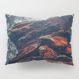 BROWN ROCK FORMATION IN FOREST Pillow Sham