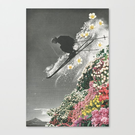 Spring Skiing Canvas Print