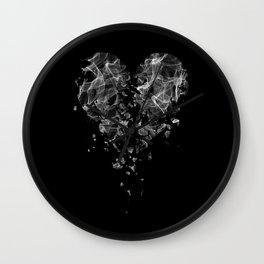smoke broken heart Wall Clock