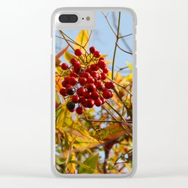 Teeny Berries Clear iPhone Case