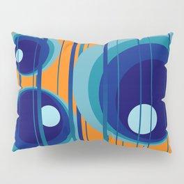 Retro Vintage Graphic Rings orange Pillow Sham