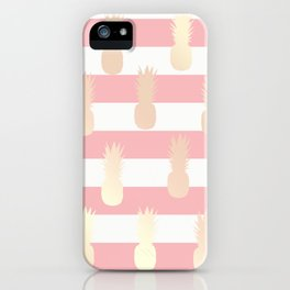 Cute & girly rose gold pineapple pattern iPhone Case
