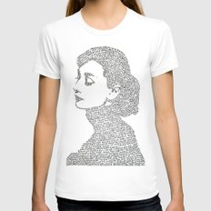 Audrey Hepburn White Womens Fitted Tee MEDIUM