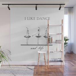 three ballerinas dancing  ( https://society6.com/vickonskey/collection ) Wall Mural
