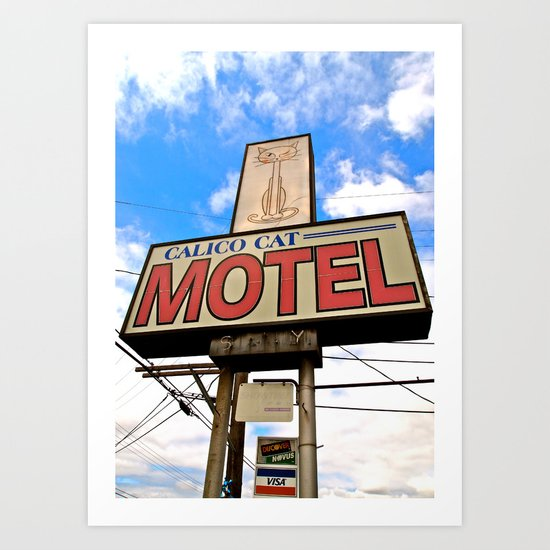 Kitty Motel Art Print