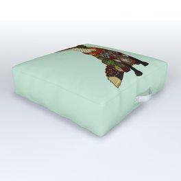 fox love mint Outdoor Floor Cushion