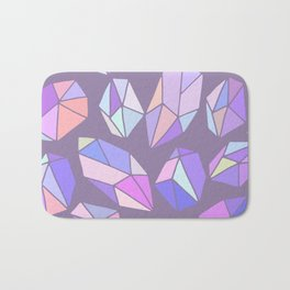 purple pink gem pattern Bath Mat