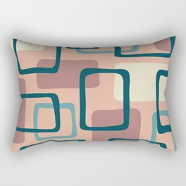 Mid Century Modern Abstract Squares Pattern 445 Rectangular Pillow