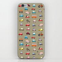 cars iPhone & iPod Skins featuring Cars by Marcelo Badari