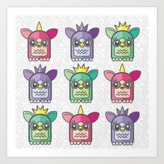 Nineties Furby Pattern  Art Print