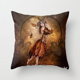 fall fae Throw Pillow
