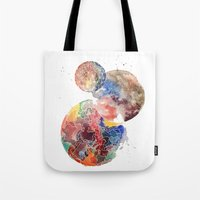 planets Tote Bags featuring Planets by emluluna