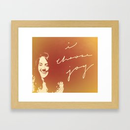 I Choose Joy #3 Framed Art Print