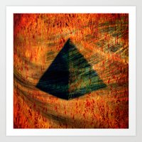 egyptian Art Prints featuring Egyptian wind by  Agostino Lo Coco