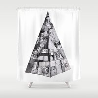 font Shower Curtains featuring New Slaves (no font) by Barbarica
