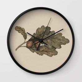 Acorns Wall Clock