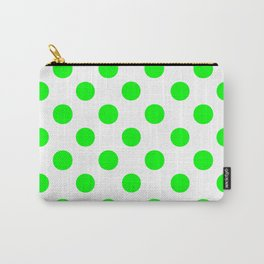 Polka Dots (Green/White) Carry-All Pouch