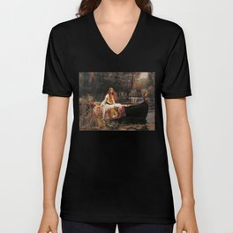 The Lady of Shallot - John William Waterhouse Unisex V-Neck
