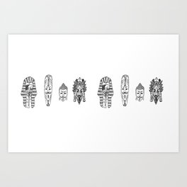 Anonymous - Egypt, Africa, China, Mexico Art Print
