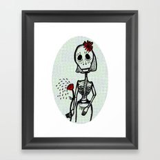 Love and bones Framed Art Print