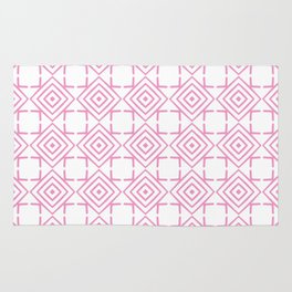 geometric pattern concentric squares pink Rug